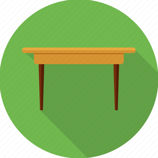 desk, dining table, furniture, home, households, interior, table icon
