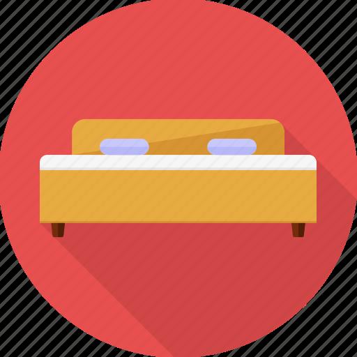 bed, bedroom, furniture, hotel, room, sleep, sleeping icon