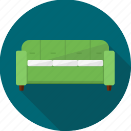 chair, couch, divan, furniture, lounge, seat, sofa icon