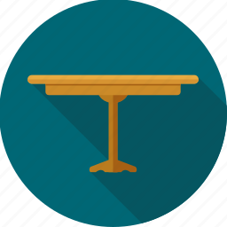 chair, furnishings, furniture, home, households, interior, table icon