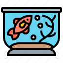 aquarium, fish, goldfish, pet, tank icon