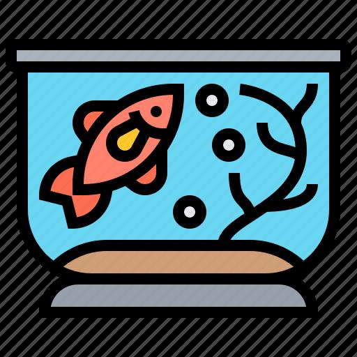 aquarium, fish, goldfish, pet, tank icon