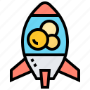 bubble, lamp, lava, retro, rocket icon