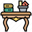 desk, furniture, office, table, wooden icon