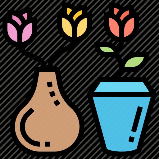 Bouquet, decoration, flora, flower, vase icon - Download on Iconfinder