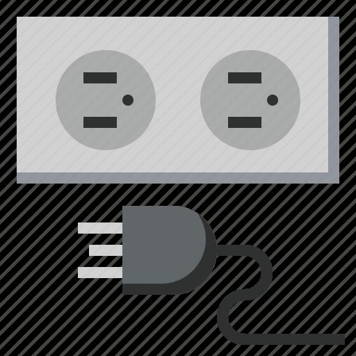 connection, electrical, electronics, plug, plugin, socket, technology icon