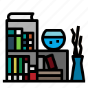 book, bookcase, bookshelf, education, library, storage icon
