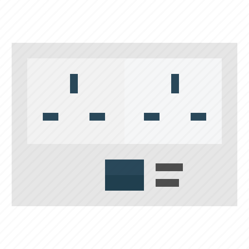 connection, electric, electrical, electronics, plugin, socket, technology icon