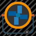 air, equipment, fan, technology, utensils, ventilation, ventilator icon