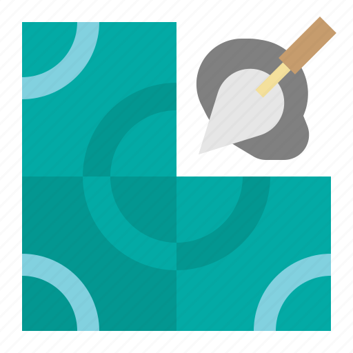 construction, house, improvement, repair, tiles, tools icon