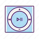 apple, device, ipod, ipod icon, ipod shuffle, music, player icon