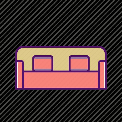 chair, couch, furniture, interior, seat, sofa, sofa icon icon