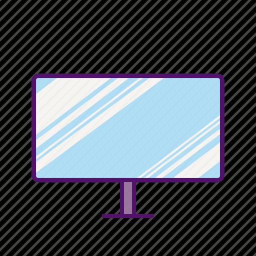 display, monitor, screen, television, tv, tv icon icon