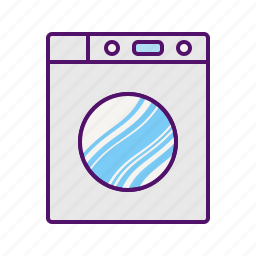 clothes, front, laundry, machine, wash, washer, washing icon icon