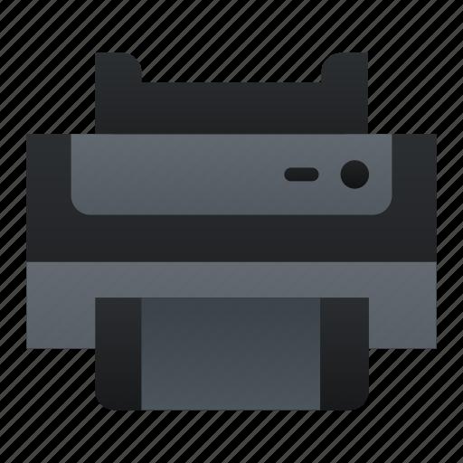 computer, print, printer icon