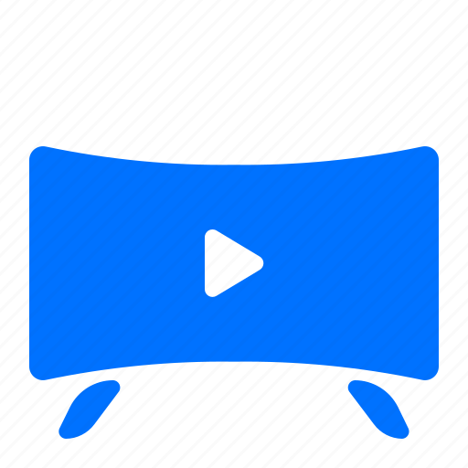 play, rounded, television, tv icon