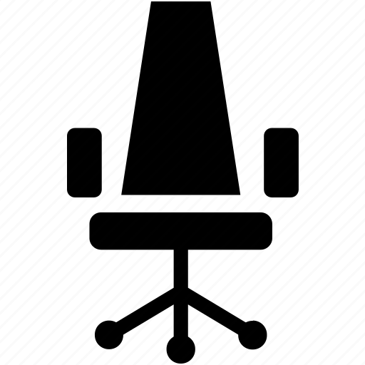 chair, desk chair, office, office chair icon