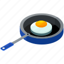 egg, essentials, home, kitchen, pan, tool icon