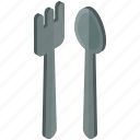 cutlery, eat, essentials, fork, home, spoon icon