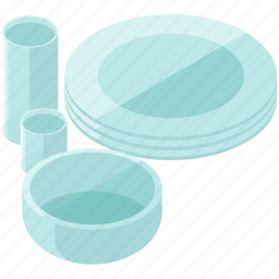 cup, essentials, glasses, home, plates icon
