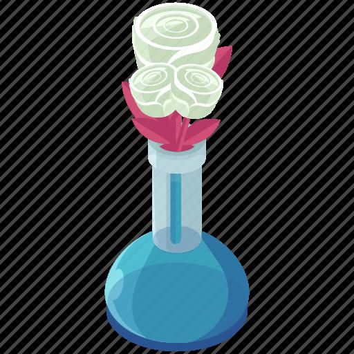decor, decoration, essentials, flowers, home, roses, vase icon