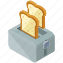 appliance, device, essentials, home, kitchen, toaster icon