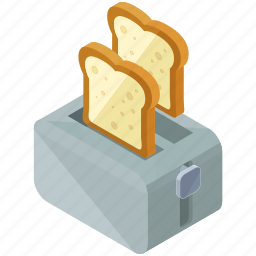 appliance, device, essentials, home, kitchen, toaster icon