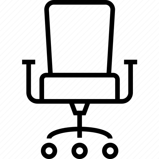 chair, furniture, interior, office, utility, working icon