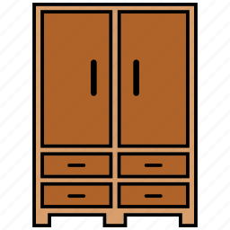 cabinet, furniture, interior, wardrobes icon