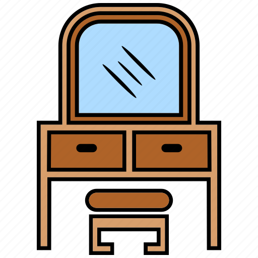 Dressing, furniture, hair, table icon - Download on Iconfinder