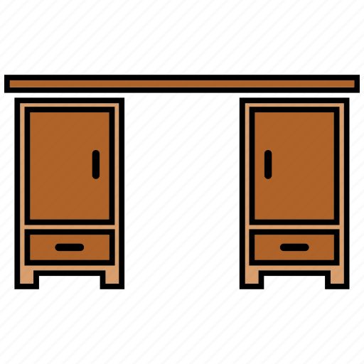desk, furniture, house, office icon