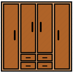 cabinet, drawer, furniture, interior icon