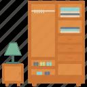 belongings, book, cloth, home, households, interior, lamp