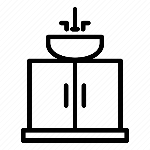 appliance, furniture, home, washing stand, wastafel icon