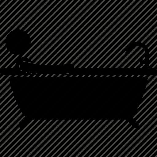 Bath, bathroom, bathtub, man, person icon - Download on Iconfinder