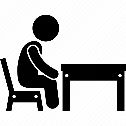 Child, small, table, chair, children, funiture, kid icon