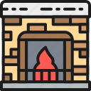 business, fireplace, furniture, home, house, interior, office icon