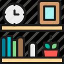 bookshelf, design, furniture, home, interior, office, shelf