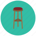 bar, decor, furniture, home, kitchen, stool icon