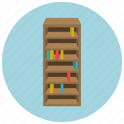 book, furniture, home, library, read, shelf icon