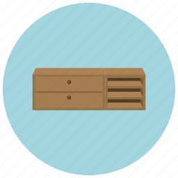 cabinet, drawers, dresser, home, table icon