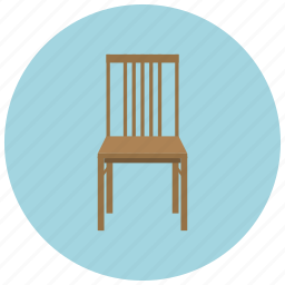 chair, dining, furniture, home, seat, sit icon