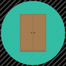armoire, cabinet, closet, cupboard, doors, home, wardrobe icon