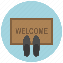 door, home, matt, shoes, slippers, welcome icon