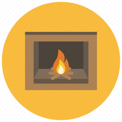 fire, fireplace, hearth, heat, home, winter icon