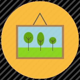 art, decoration, frame, home, picture, portrait icon
