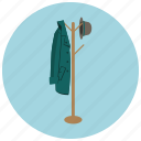coat, foyer, hanger, hat, home, jacket icon