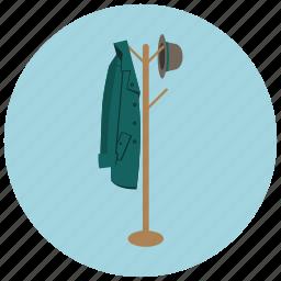coat, foyer, hanger, hat, home, jacket icon
