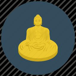 asian, buddha, home, religious, statue icon