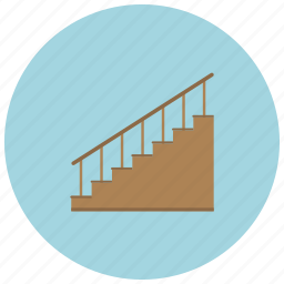 basement, home, rail, stairs, steps icon